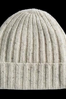 Grown - Speckled Merino Rib Beanie snow