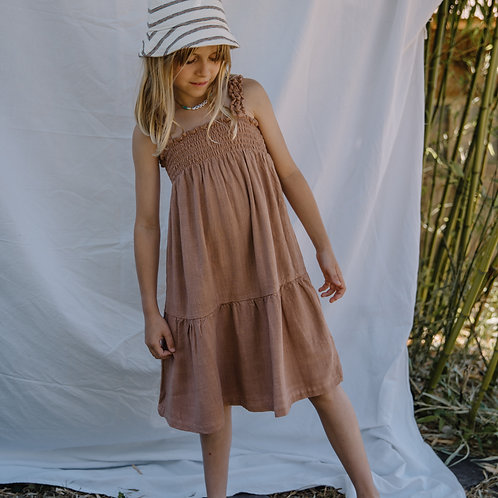 búho barcelona - Rayon Linen Dress Cocoa