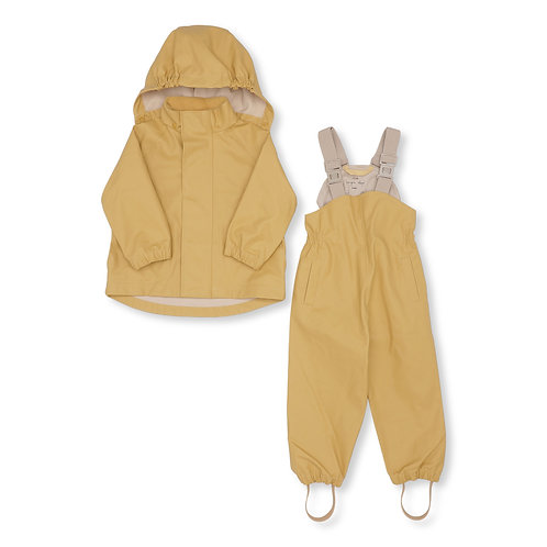 Konges Sløjd - Palme Rainwear Set Solid Cotton Acacia