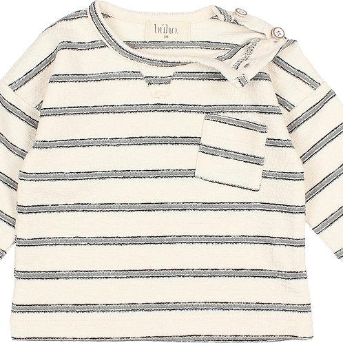 búho barcelona - Baby Navy Stripes Sweater Cloud