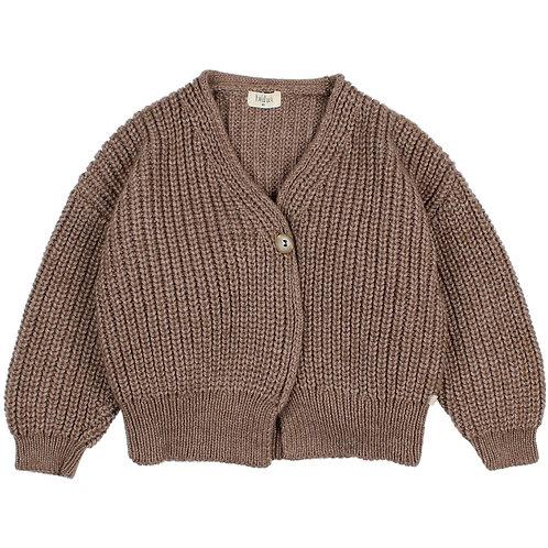 búho barcelona - Soft Knit Cardigan wood