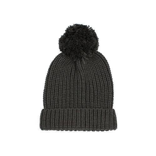 búho barcelona - Pom Pom Soft Knit Hat antracite