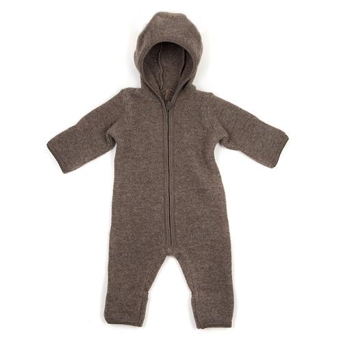 HUTTELiHUT - Emmie Babysuit no ears wool fleece brown