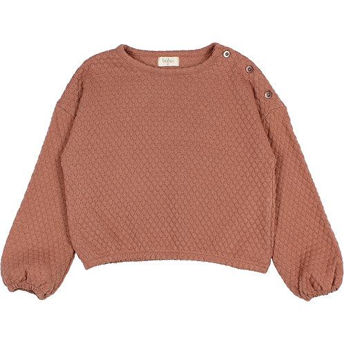 búho barcelona - Kids Soft Jacquard Sweatshirt antic rose