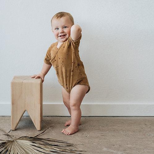 KidWild - Organic Bodysuit Splatter AOP Brick