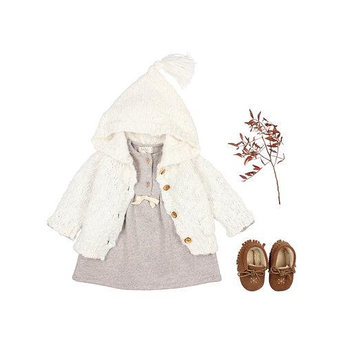 búho barcelona - Baby Soft Jersey Dress stone