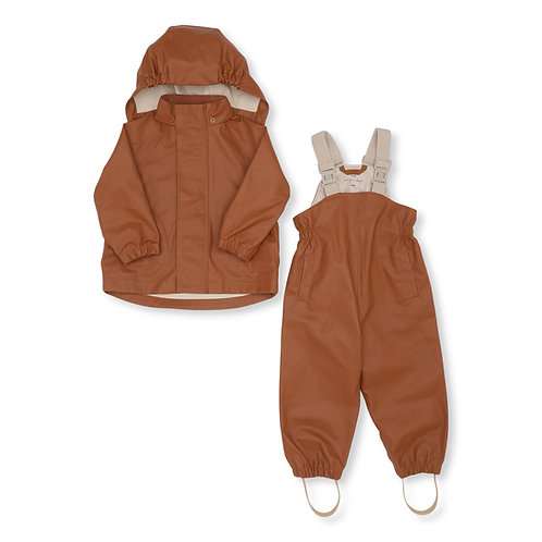 Konges Sløjd - Palme Rainwear Set Solid Cotton Caramel