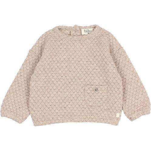 búho barcelona - Soft Jacquard Sweatshirt natural