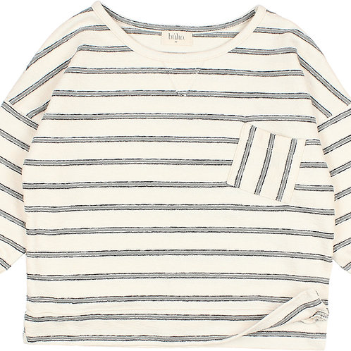 búho barcelona - Kids Navy Stripes Sweater Cloud