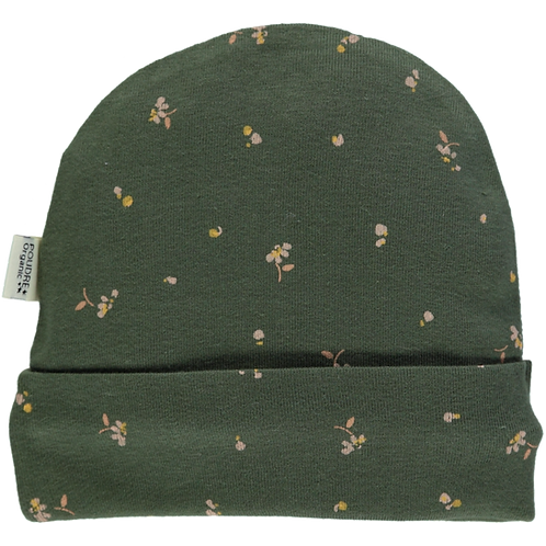 Poudre Organic - Bonnet Forest Green Fleurs Mütze