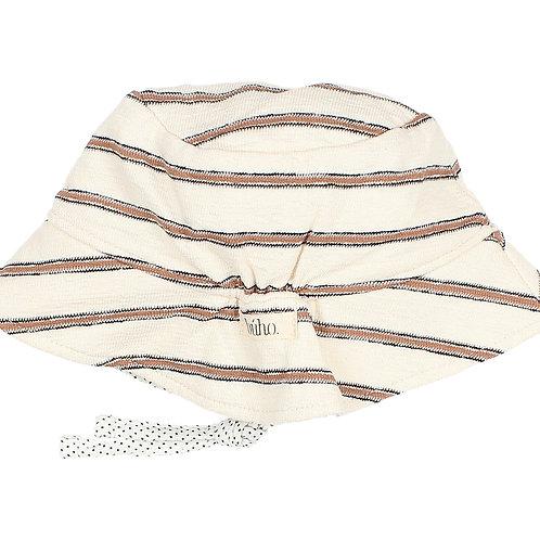 búho barcelona - Baby Navy Stripes Hat Cocoa