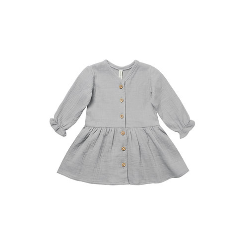 Quincy Mae - Longsleeve Gauze Dress periwinkle