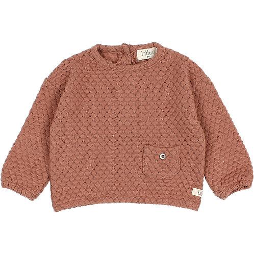 búho barcelona - Soft Jacquard Sweatshirt antic rose