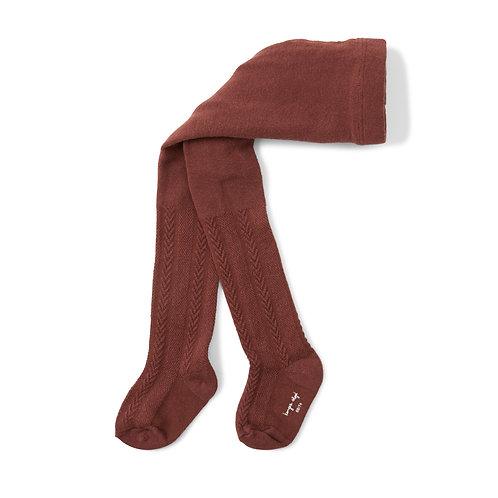 Konges Sløjd - Pointelle Stockings Feigenbraun