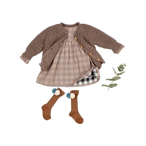búho barcelona - Baby Soft Knit Cardigan wood