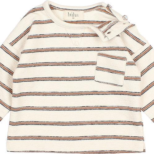 búho barcelona - Baby Navy Stripes Sweater Cocoa