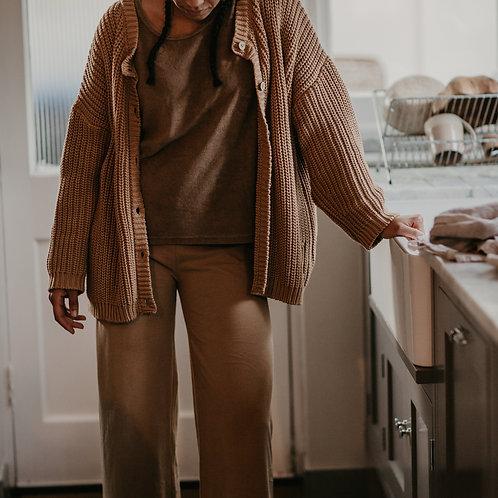 Women's Loungewear The Simple Folk – The Wide Leg Trousers Camel