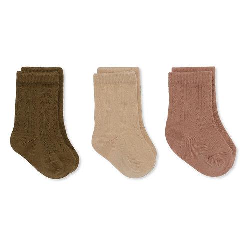 Konges Sløjd - 3er Pack Pointelle Socks