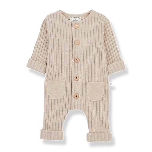 1+ in the family - Alain Jumpsuit cream