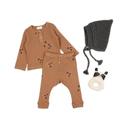 búho barcelona - Baby Soft Knit Hat antracite