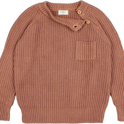 búho barcelona - Pocket Knit Jumper Cocoa
