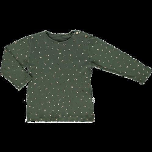 Poudre Organic - Citronnelle Forest Green Fleurs T-Shirt langarm