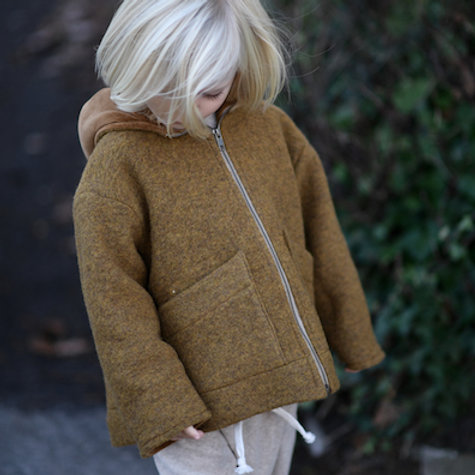 HUTTELiHUT - POOH Baby Jacket Wool Ocre
