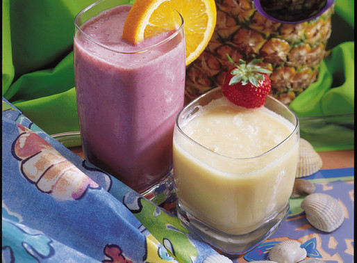 Pinaepple-Orange-Banana Fruit Smoothy