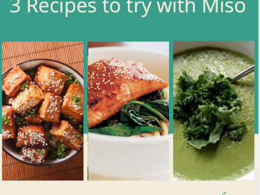 3 Recipes to try with Miso