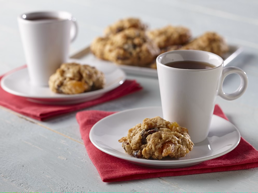 Holiday Apricot Oatmeal Soy Cookies