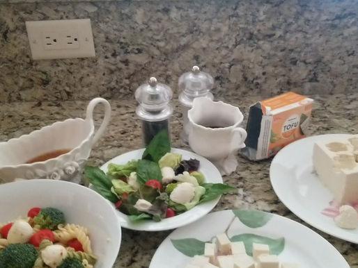Summer Salads Soar When Tofu Meets a Melon Baller