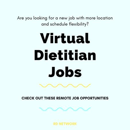 5 Virtual Dietitian Jobs (Now Hiring)