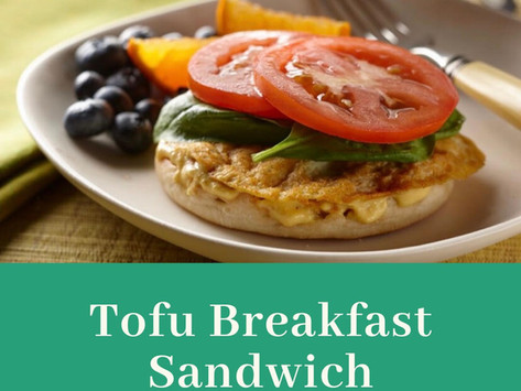 Tofu Breakfast Sandwich