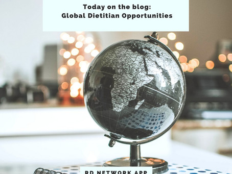 Global Nutrition Resources and Dietitian Opportunities