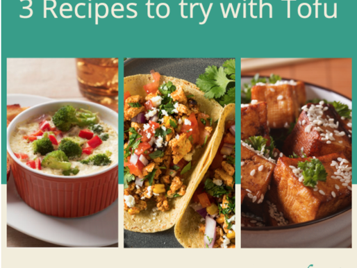 3 Recipes to try with Tofu