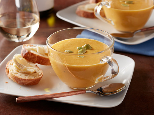 Edamame, Carrot and Potato Soup