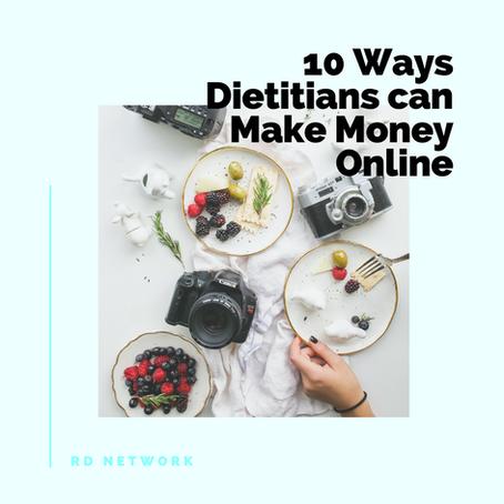 10 Ways Dietitians can Make Money Online