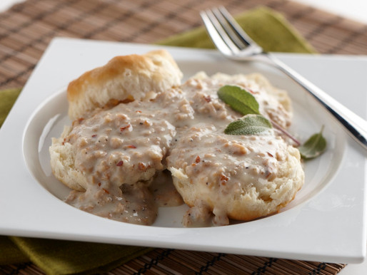 Textured Soy Protein Biscuits and Gravy