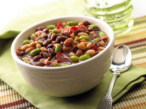Slow Cooker Edamame & Calico beans