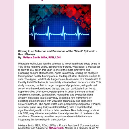 Feature in Nutrition Informatics DPG Newsletter