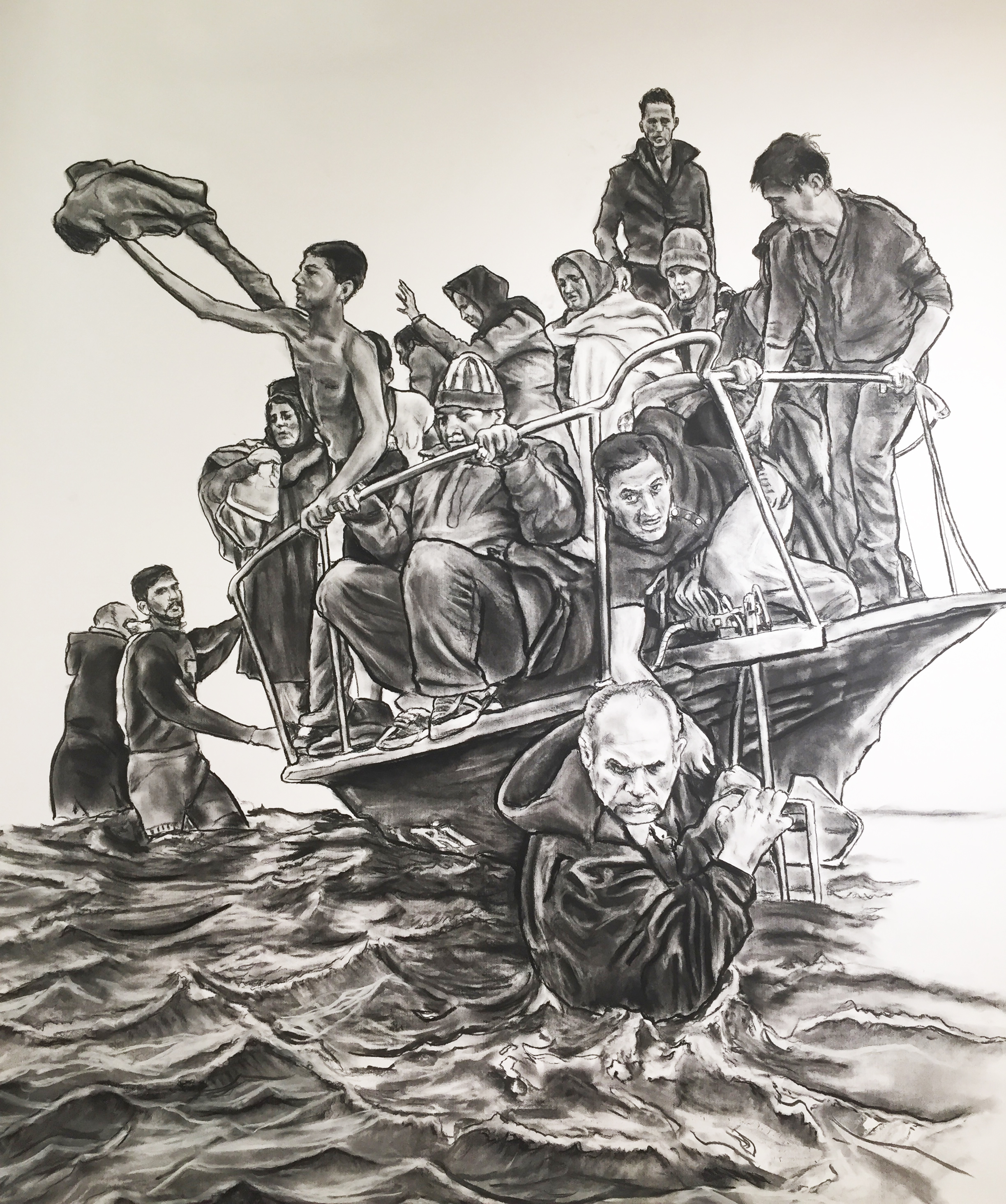 Humans on boat
