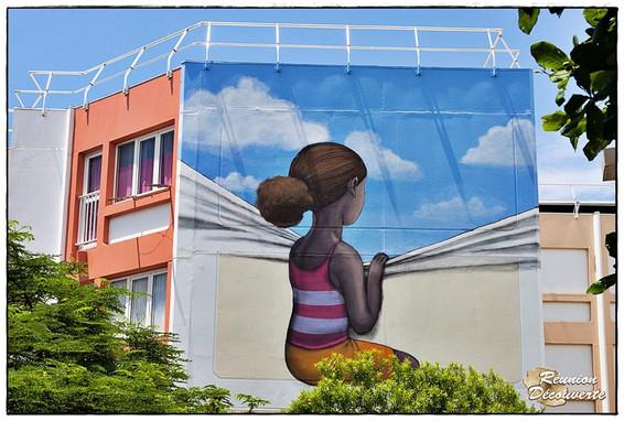 Seth -street art quartier Rose des vents, Le Port, Ile de La Réunion, 2015
