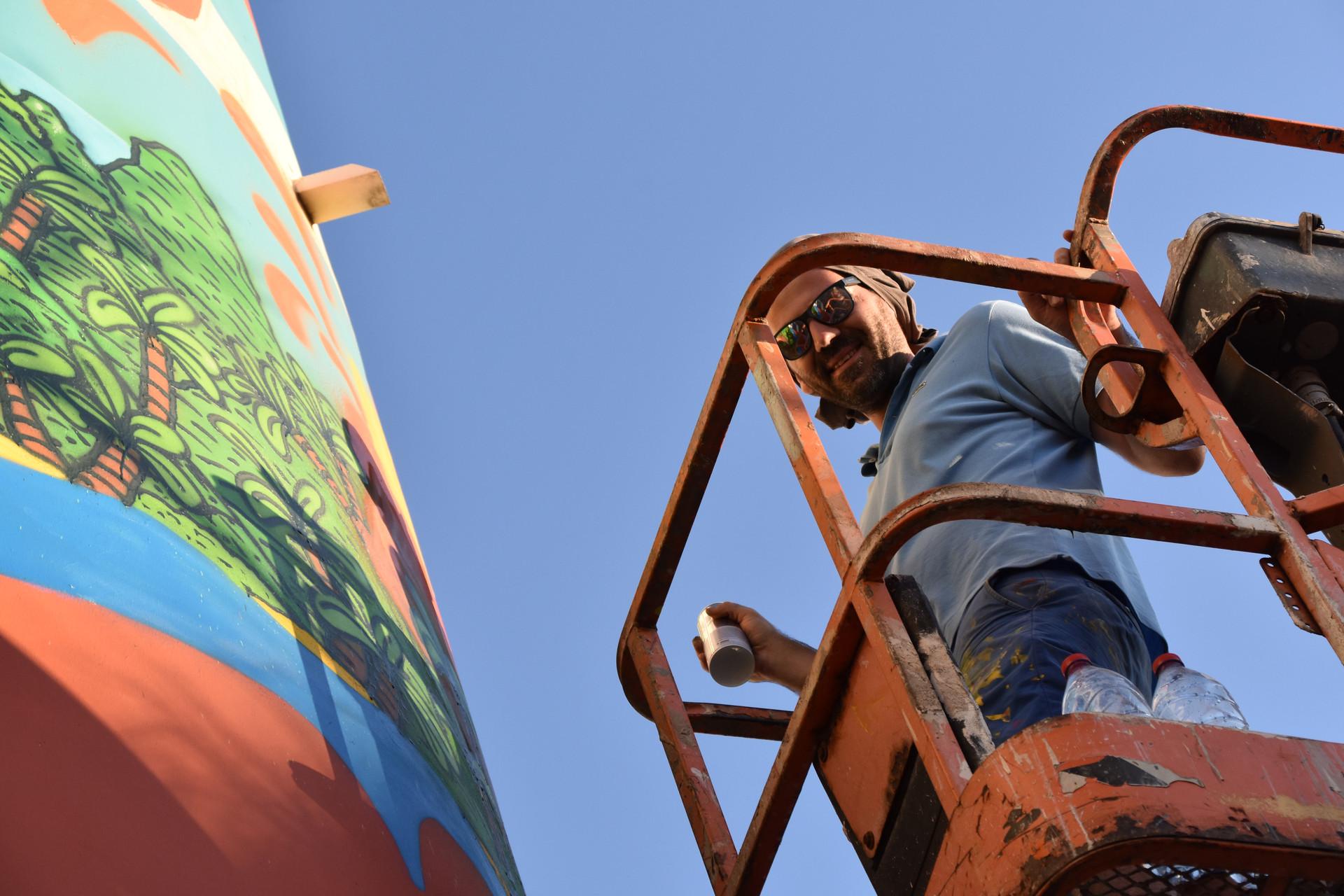 Poes, street artiste. 2018 Le Port - Réunion
