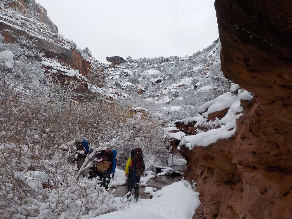 Backpacking in Snow