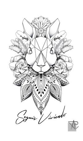 Tattoo Rabbit Mandala