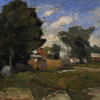01, In the alley I, oil on paper, 2001.j