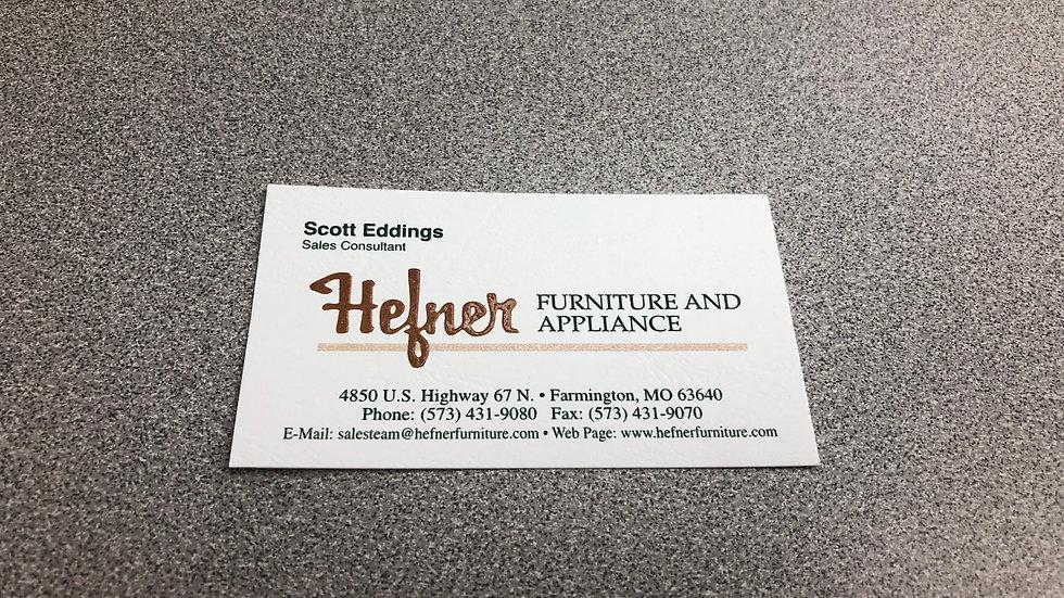 Raised Print Business Cards