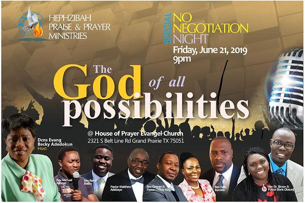 June 2019 No Negotiation Night