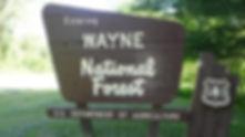 ohio wayne national forest sign