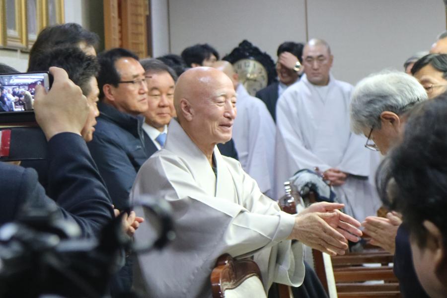 중앙신도회, 교구신도회, 신도단체 임원 <총무원장 설정스님 인사>